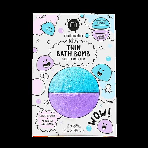 Boule de bain duo : bleu + violet-Nailmatics