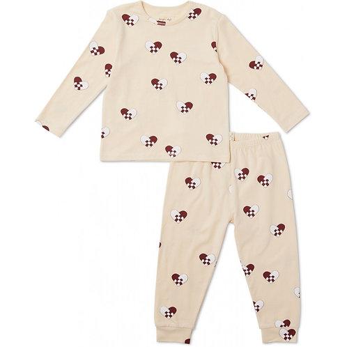 Pyjama Noël-coeur-2 pièces-Konges Sløjd