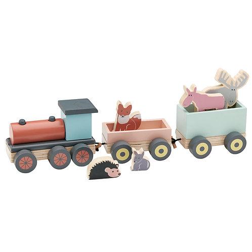 Train en Bois avec Animaux - EDVIN-Kids Concept