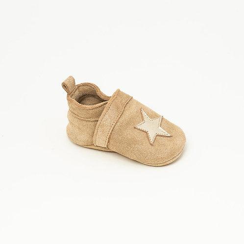 Chaussure bébé slipper | Gwenaël Devenlight Or