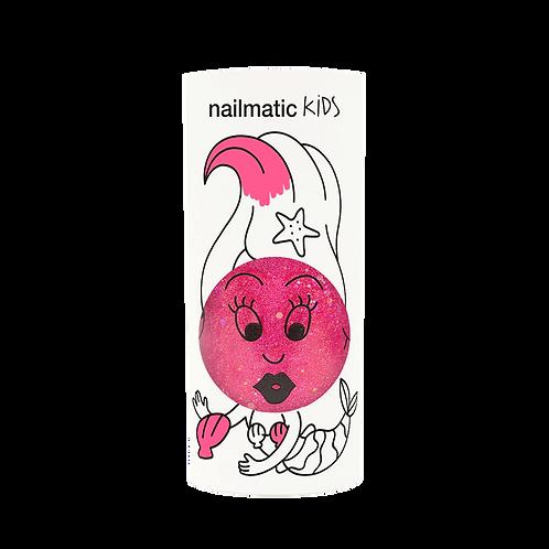 Vernis enfant base eau - Sissi – rose pailleté-Nailmatics KIDS