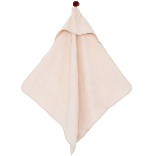 Cape de bain rose pâle So cute Nobodinoz