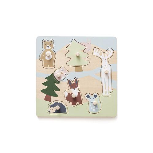 Puzzle Edvin en bois-Kids Concept