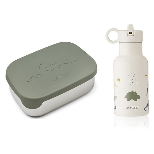 Pack Lunch Box Joni - Dino Faune Green Mix