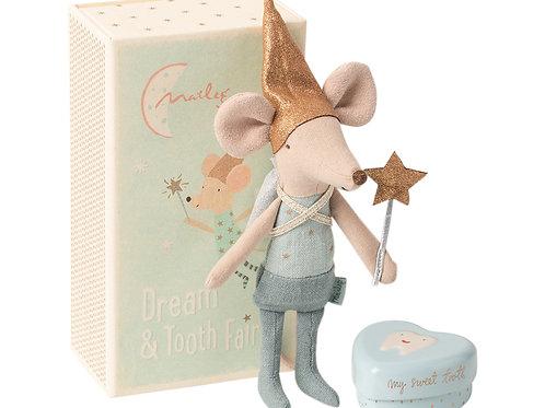 "Petite souris fée des dents garçon avec sa boîte ""Maileg"""