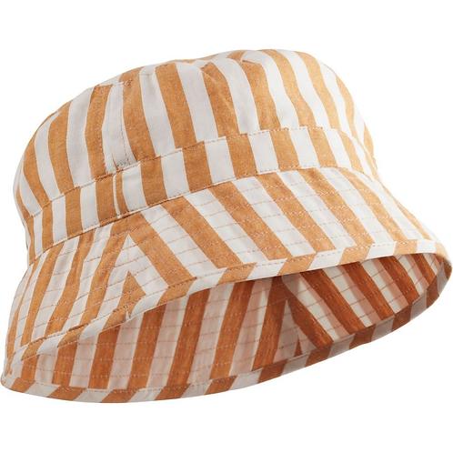 Chapeau de soleil Bucket rayé moutarde/ 5-7 ans / blanc Liewood