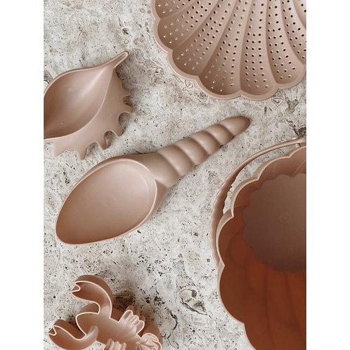 Set de jeu de plage coquillage- rose blush- Konges Slojd