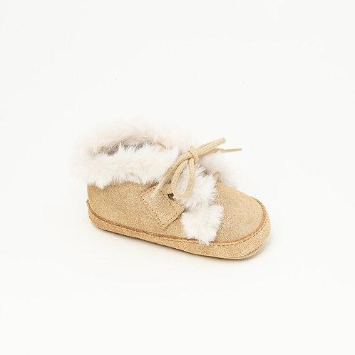 Chaussure bébé Boots | Andréa Devenlight or
