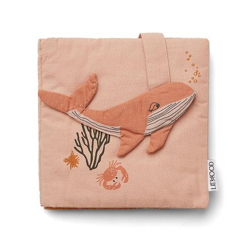 Livre déveil -sea creatures rose-linwood