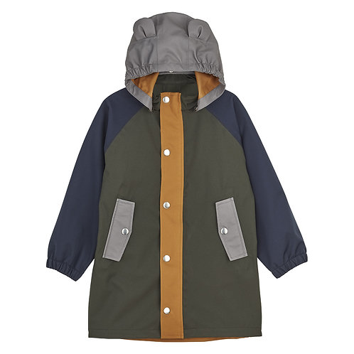 Imperméable Blake Hunter Green Multi Mix-Liewood