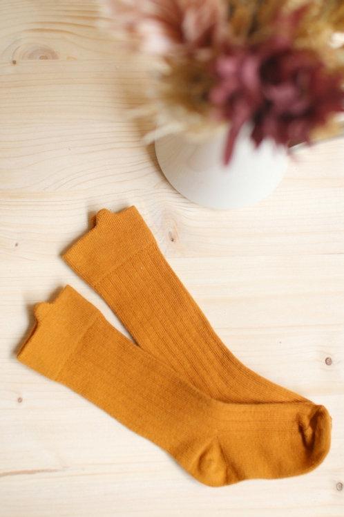 Chaussettes hautes à oreilles Miel-Joey Paris