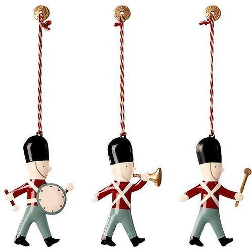 Décoration de Noël - Maileg - Lot de 3 soldats dans une boite
