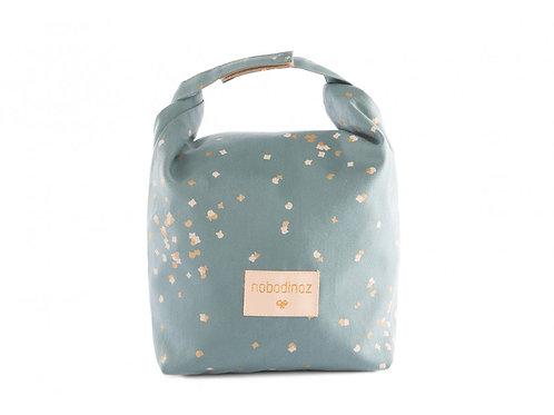 Eco lunch bag gold confetti/ magic green