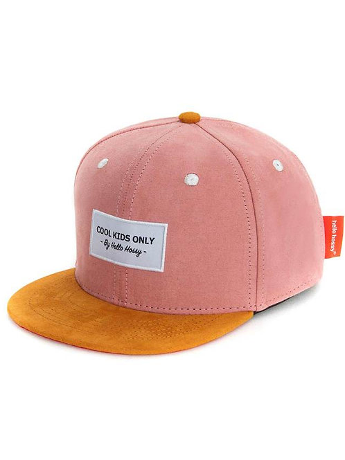 Casquette Daim Old Pink- Hello Hossy