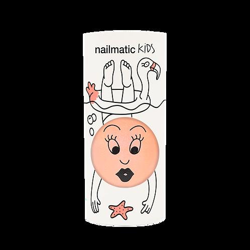 Vernis enfant base eau - Flamingo - Corail néon nacré-Nailmatics KIDS
