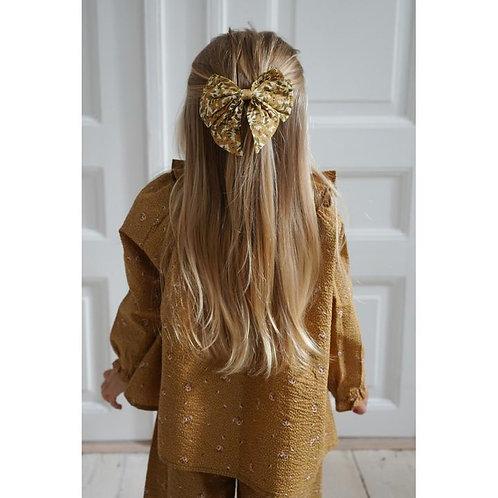 pince à cheveux bowie - winter leaves mustard-konges
