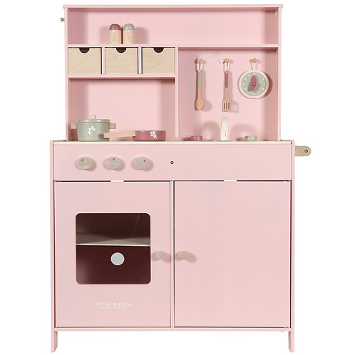Grande cuisine en bois pink Little Dutch