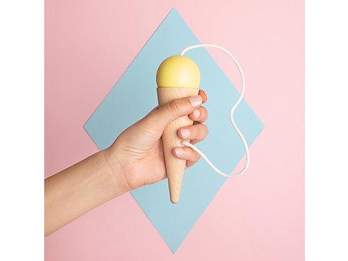 Bilboquet 17x5cm jaune
