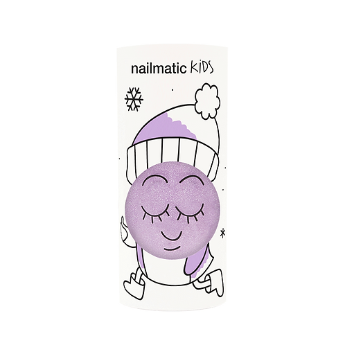 Vernis enfant base eau - Piglou - violet paillettes-Nailmatics KIDS