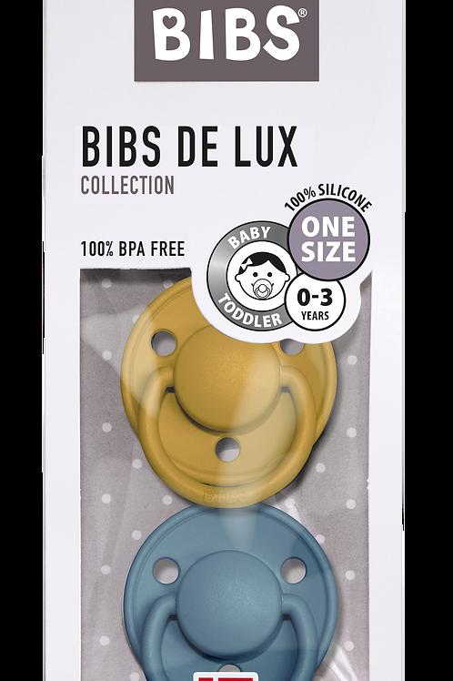BIBS - Pack de 2 tétines Bibs de Lux-Moutarde/Pétrole