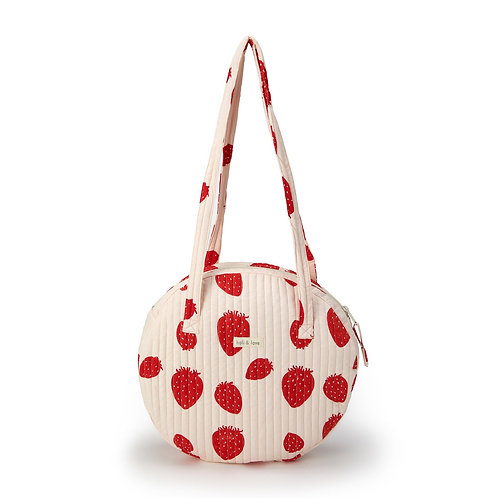 SAC ROND PORTÉ ÉPAULE - PINK STRAWBERRY-Holi and Love