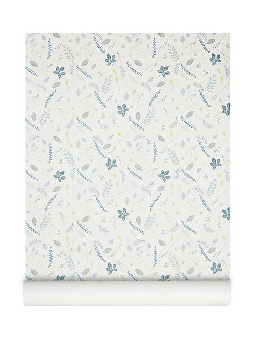 Papier peint décoratif de Camcam | Leaves bleu
