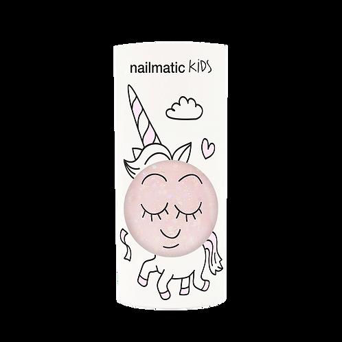 Vernis enfant eau - Polly - rose transparent paillettes-Nailmatics KIDS