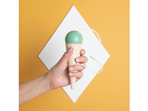 Bilboquet 17x5cm vert