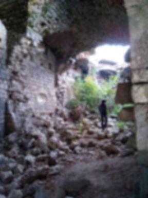 В развалинах крепости Космач