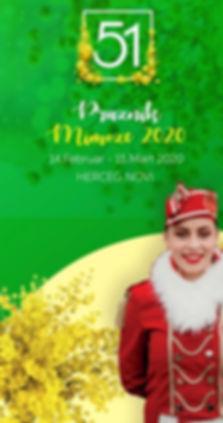 Официальный банер Фестиваля мимозы 2020