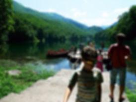 Пристань Биоградское озеро в Черногории