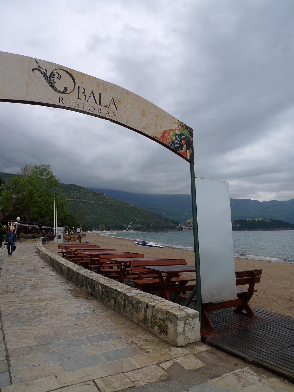 Набережная Будвы, ресторан Обала в Будве Черногория