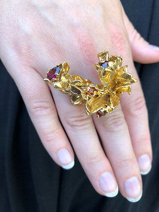Gold Fairytale Ring with Assorted Garnets
