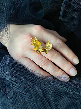 Gold Purely Petals Ring
