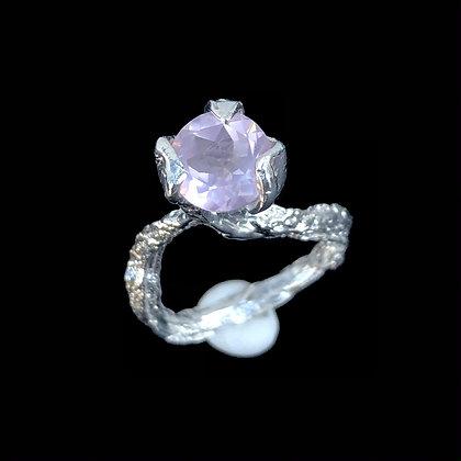 Rose Quartz Solitaire Ring