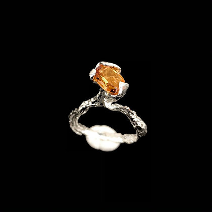 Madeira Citrine Solitaire Ring