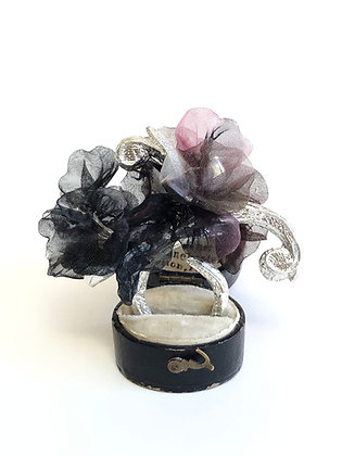 Silver Floral Baroque Ring
