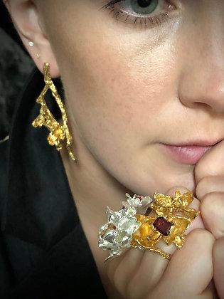 Gold Branch Earrings