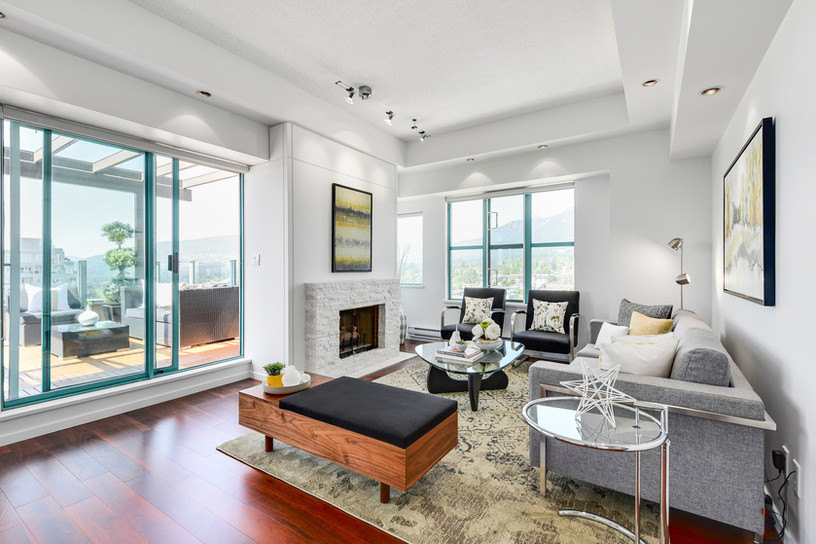 Living room interior in a luxury penthou