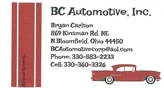 BC Automotive business card