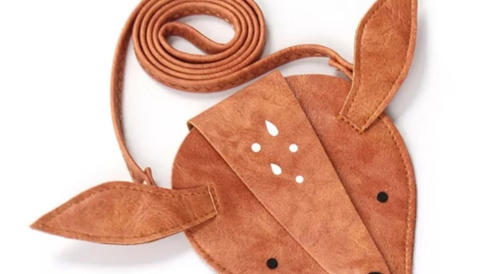 Deer bag from eco leather