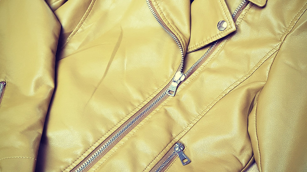 Mustard colour biker jacket