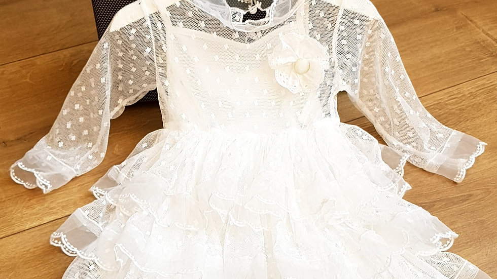 White elegant layered dress