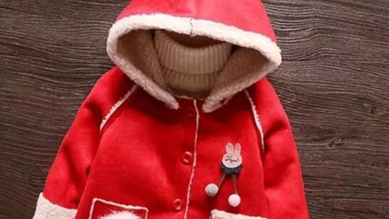 Autumn/winter jacket in red colour