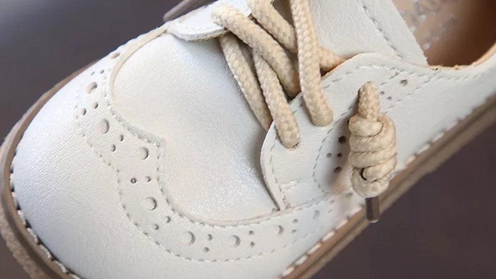 Vintage shoes in cream colour