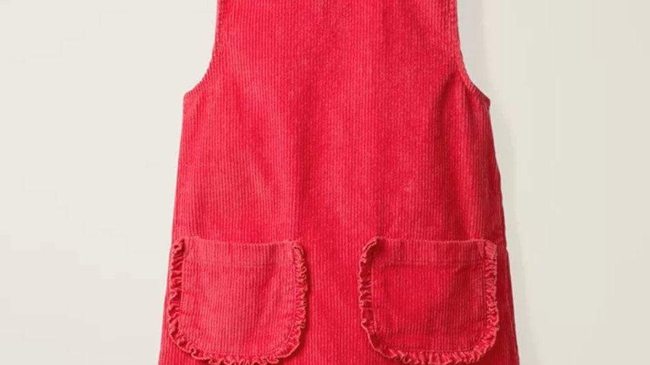 Red cotton courdroy dress