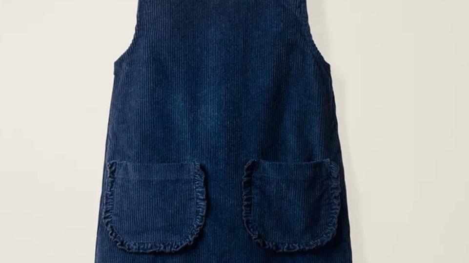 Blue cotton courdroy dress