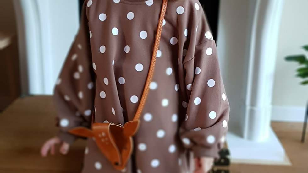 Brown, cotton dress