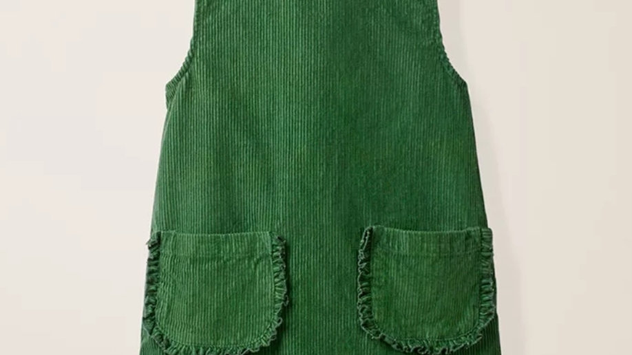 Green cotton courdroy dress