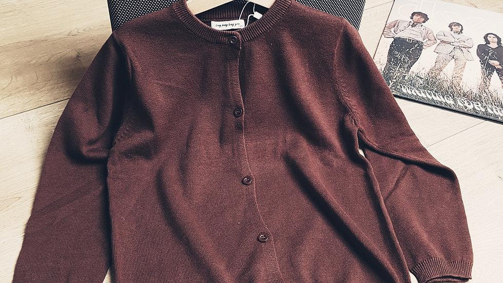 Brown cotton cardigan